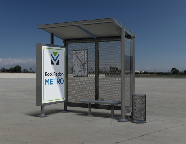 Photo of a Rock Region METRO shelter rendering.
